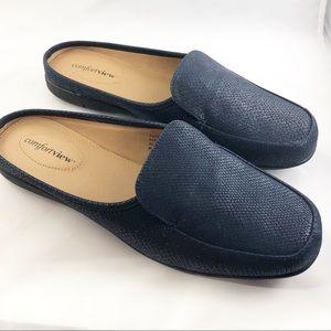 Comfortview Blue Estelle Mules Size 9.5M